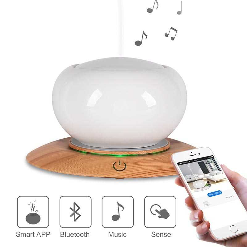 SP-L28 300ml ceramic bluetooth speaker APP control ultrasonic aroma diffuser