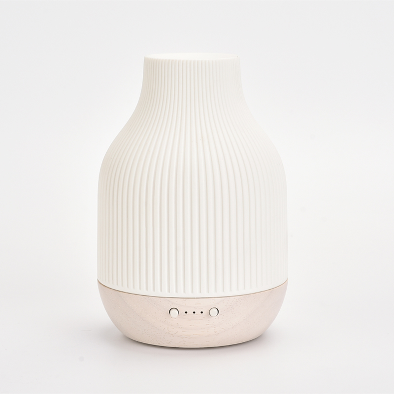 SOICARE ceramic and solid wood cool mist aromatherapy humidifies essential oil diffuser