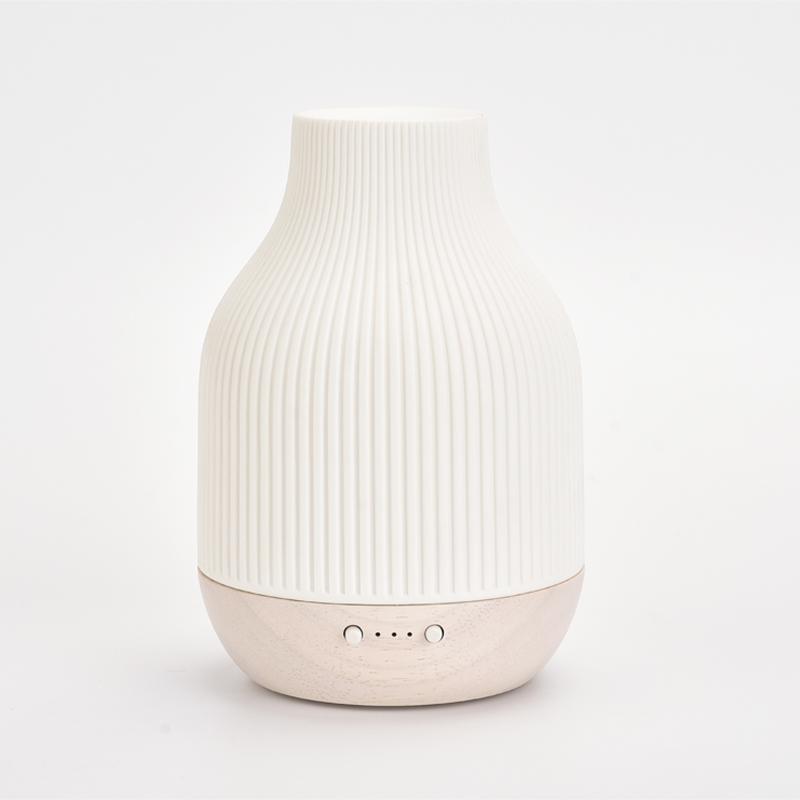 SOICARE ceramiczna i litego drewna aromaterapia chłodną mgiełką nawilża dyfuzor olejków eterycznych