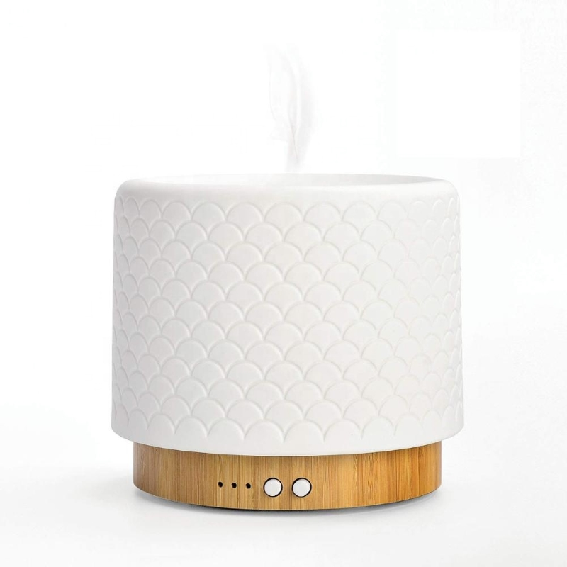 SP-G16B SOICARE 280ml glass bamboo cool mist warm light ultrasonic essential oil diffuser