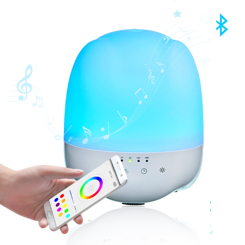 SP-L07 350ml Bluetooth Speaker App Control Smart WIFI Aroma Diffuser