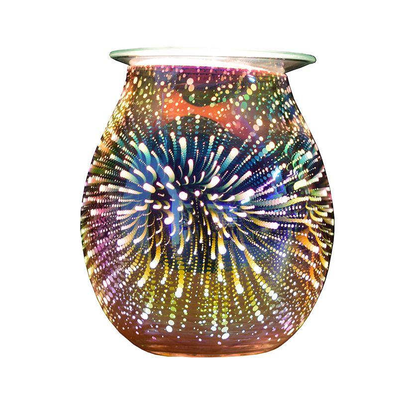 SP-WBL07-S 3D glass electric scented wax tart warmer oil burner