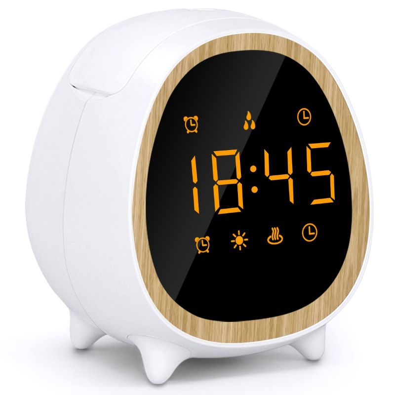 SP-G12  Smart Alexa Weather Essential Oil Scent Aromatherapy Ultrasonic Alarm Clock Wifi Aroma Diffuser